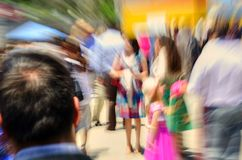 Blur of crowd of people Stock Photos