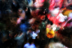 Blur dance. Long exposed shot of crowd on dancefloor Stock Photography