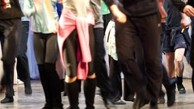 Blur dancer on the stage stock footage