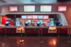 Blur of Defocus Background  People Waiting in Movie or Cinema Complex Lounge Royalty Free Stock Photo