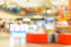 Blured image of the shopping mall as background with bokeh. Blur or defocus image of the shopping mall as background with bokeh stock photo
