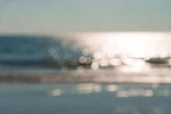 Blur defocused of the beach in afternoon Stock Photos