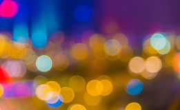 Blur defocused illuminated lighting of street view Stock Photography