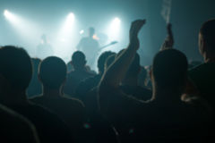 Blur defocused music concert crowd as abstract background Stock Images