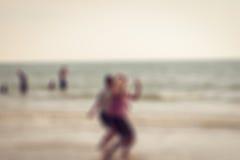 Blur defocused of people on the beach Stock Image
