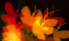 Blur effect lights in the form of butterflies Royalty Free Stock Photos