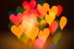 Blur effect the shape of hearts Royalty Free Stock Photography