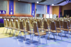 Blur of empty chair in meeting or conference room Royalty Free Stock Photo