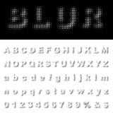 Blur fat font Royalty Free Stock Image