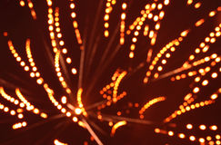 Blur of fireworks Stock Photography