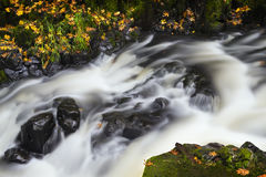 Blur of flowing stream stock images