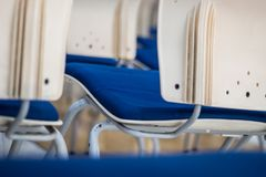 Blur focus back view abstract background of Chair stock images