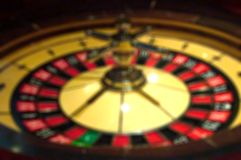 Blur focus in casino. The dynamic roulette in casino. Stock Photos