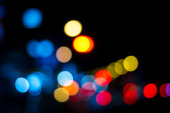 Blur focus light in many color. Royalty Free Stock Images