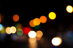 Blur focus light in many color. Royalty Free Stock Photos