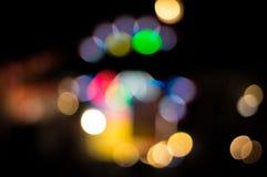 Blur focus many color bokeh. Stock Images