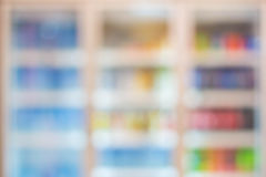 blur of freezer in supermarkets Royalty Free Stock Images