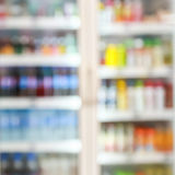 Blur of freezer in supermarkets.  Royalty Free Stock Images