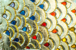 Blur gold backgrounds. Blur gold fish scale backgrounds Stock Image