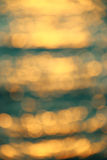 Blur green background from sea Stock Image