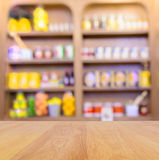 Blur grocery shop shelve Royalty Free Stock Images