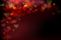 002 Blur heart on dark abstract background vector illustration E Royalty Free Stock Photos