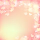 005 Blur heart on light pink abstract background vector illustra Royalty Free Stock Image