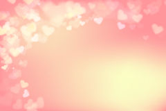 003 Blur heart on light pink abstract background vector illustra Stock Image