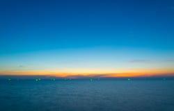 Blur hour in Chanthaburi, Thailand. The bay in chathaburi city stock photo