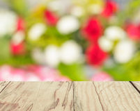 Blur image of Abstract Bokeh of colorful flower background. Stock Photography