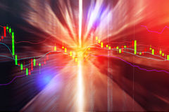 Blur image background of warehouse. Stock chart financial business concept Stock Photos