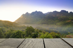 Blur image of beautiful scenery view point and cloudspace. Defocused and blur image of beautiful scenery view point and cloudscape in Chiangmai for background Stock Images