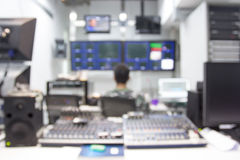 Blur image broadcast a Television control Stock Photos