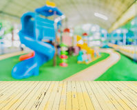 Blur image of children's playground at public park Royalty Free Stock Image
