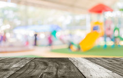 Blur image of children's playground at public park . Stock Photos
