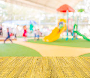 Blur image of children's playground at public park . Royalty Free Stock Photo