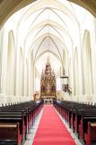 Blur image of inside the church as background royalty free stock images