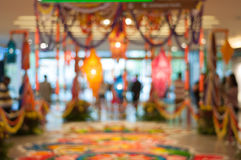 Blur image inside the shopping complex during deepavali  Stock Images