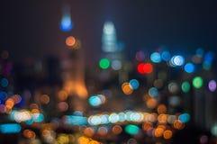 Blur image of Kuala Lumpur with bokeh Stock Image