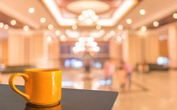 Blur image of living room for background usage. Royalty Free Stock Images