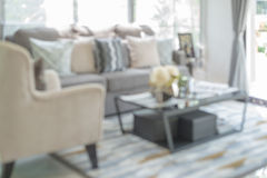 Blur image of modern living room Stock Photos