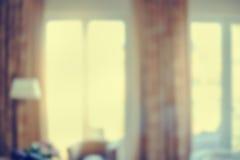 Blur image of modern living room interior big windows and sunlight Stock Image