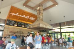 Blur image of people in coffee shop royalty free stock photography