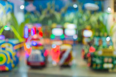 Blur image of playground in the mall use for background.  Stock Images