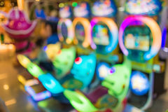 Blur image of playground in the mall use for background.  Royalty Free Stock Photography