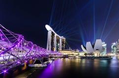 Singapore city,LASER show Royalty Free Stock Photo