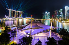 Singapore city,LASER show Royalty Free Stock Images