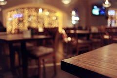 Blur interior of the restaurant. Empty table background blur interior of the restaurant Stock Photo