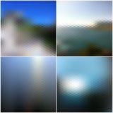 Blur landscape vector backgrounds. Blurred Stock Images