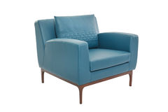 Blur leather and wood armchair modern designer royalty free stock photo